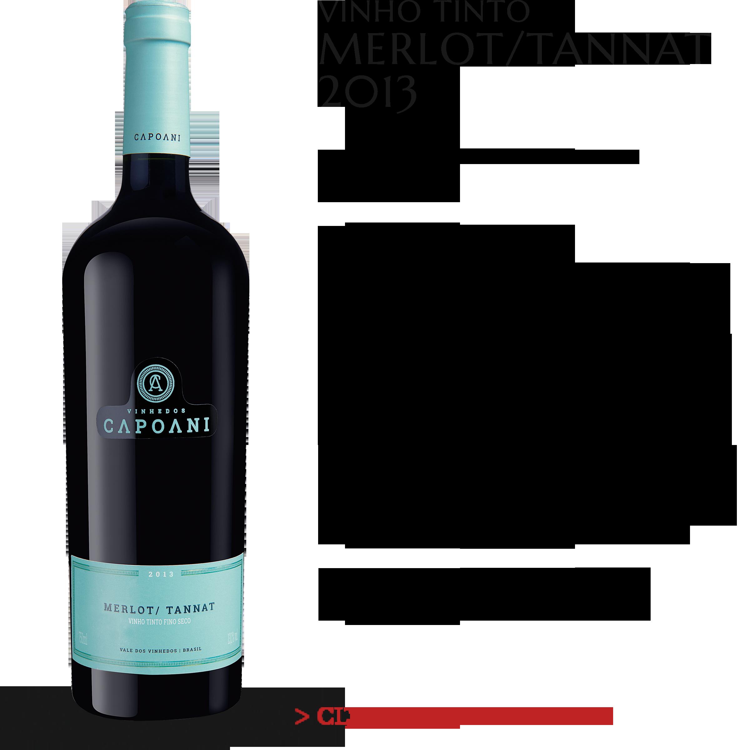 Vinho Tinto Capoani Merlot/Tannat 2013