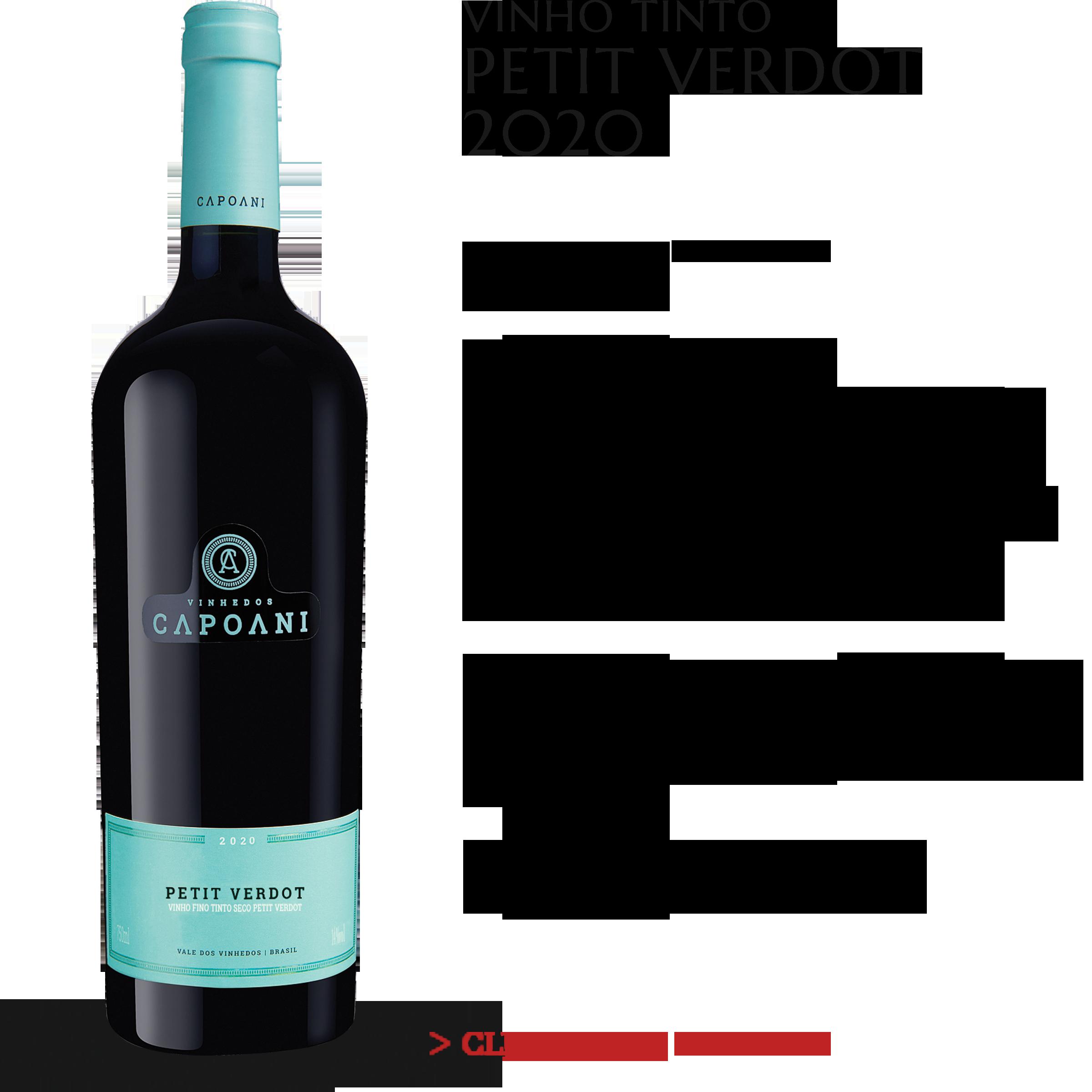 Vinho Tinto Petit Verdot 2020