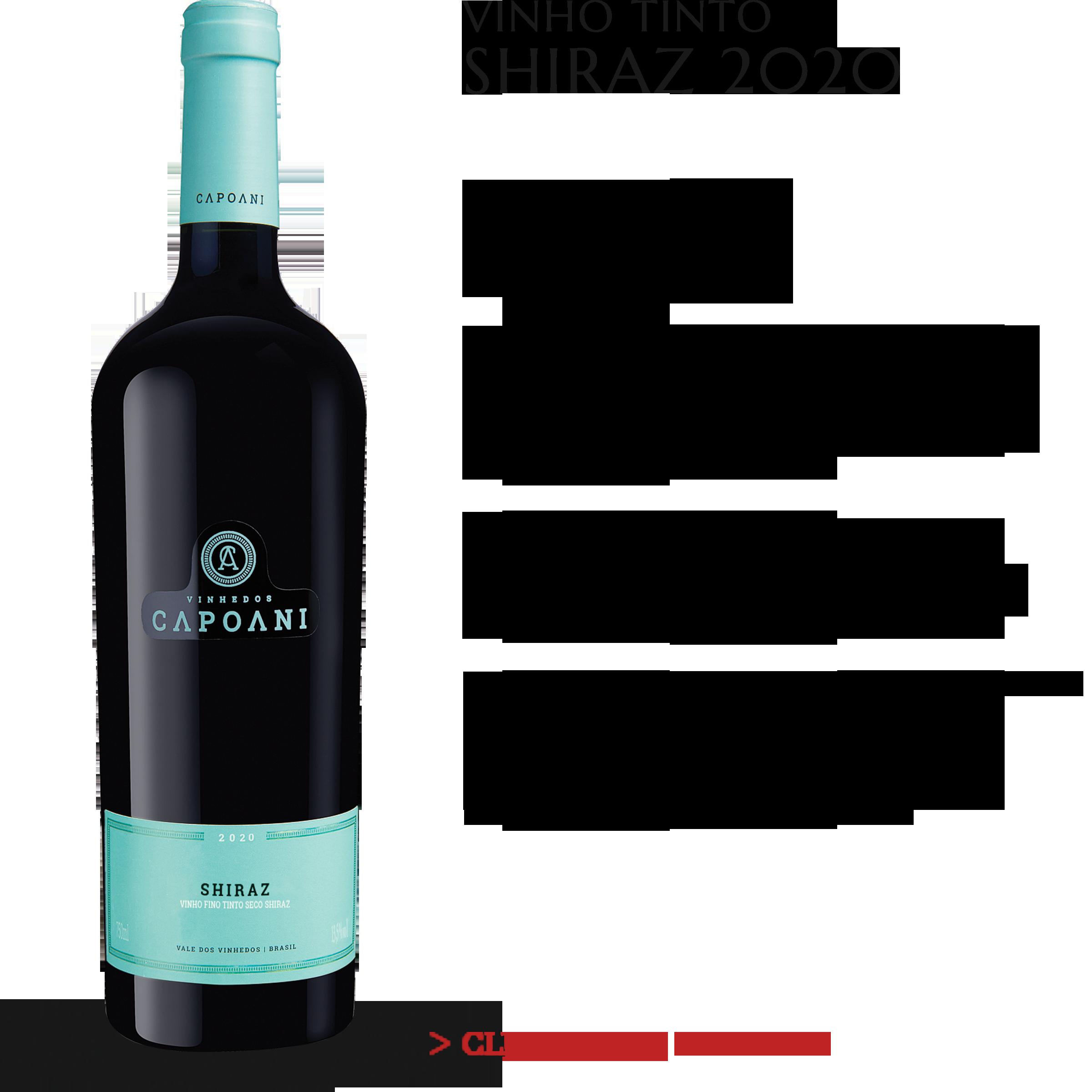 Vinho Tinto Shiraz 2020